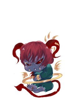 Demon cheeb adoptable /FORGOTTOCLOSE/ by Tirnhael