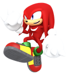 Jumping at you Knuckles edition by JaysonJean