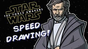 TFA Speed Drawing - 9 of 9 - Luke Skywalker by JoeHoganArt