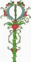 Briar Rose Keyblade -Colored- by Tough-and-Heartless