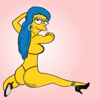 Marge Simpson as Coco Austin by paulibus2001