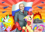 Putin Pounds Ponies by curtsibling