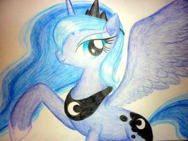 Princess Luna by BluDraconoid