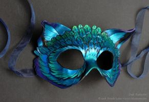Dusk Featherfox Leather Mask by windfalcon