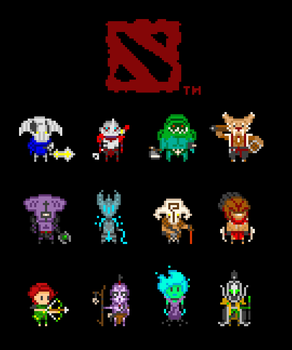 DotA 2 Pixelbatch Shirt by Azikira