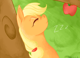 Sleeping in a Apple Tree by shadowily