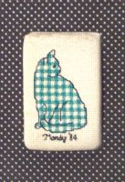 Gingham Cat by mamaslyth