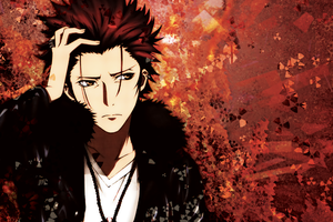 K project Wallpaper - Mikoto Suoh by umi-no-mizu