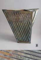 Raku Angular Vase by GoaliGrlTilDeath