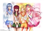 Senshi comm. || Sailor Seasons [+ Speedpaint] by BluAjisai