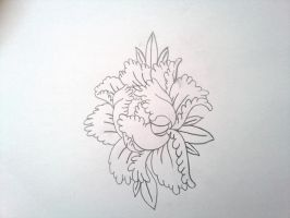 flower outline by GeertY