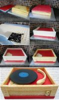 Retro Record Player Stages by ginas-cakes