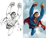 Superman 1978 Christopher Reeve (color) by le0arts