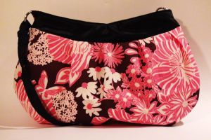 Pink Flowers Purse by MammaShaClothing