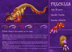 OC Freckles Reference Sheet by Bluefire-Amaterasu