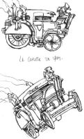 steampunk car by IanLIR