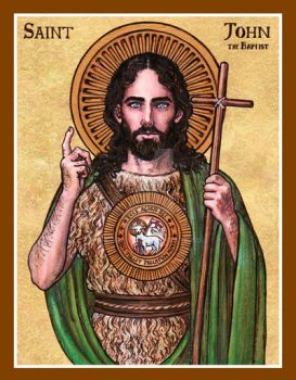 St. John the Baptist icon by Theophilia