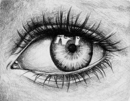 Photorealistic Eye practicing by AlyssaFoxAH