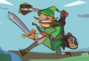 Link, Hyaghing by michaelfirman
