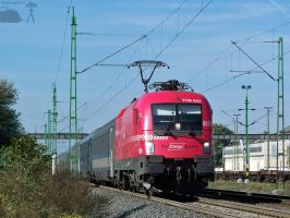 RCA lok with EC train in Gyor by morpheus880223