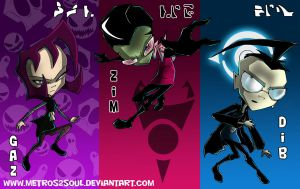 Gaz Zim and Dib by Metros2soul