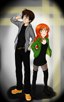 Simon and Clary by Rikakio