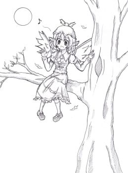 A bird on a branch by miwol