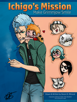 Ichi's Mission: Make Grimmjow Smile COVER (NEW) by minsra
