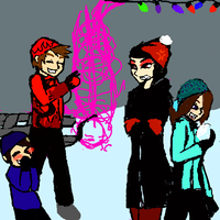 family christmas wip by articfoxice