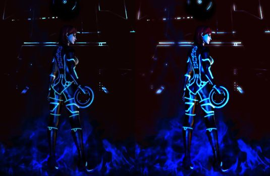 tron effect by fishbone76-d6mt48tB A by MaximusNights