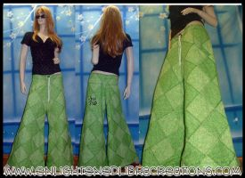 Kanji GoodLuck Patchwork Pants by RedheadThePirate