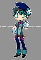 blue mechanic [offer to adopt : closed ] by Shotze