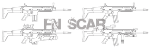 FN SCAR-L and SCAR-H by Madbird-Valiant
