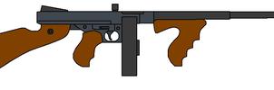 Thompson Submachine Gun by omegafactor90