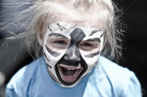 Zebra face paint! by ssarahfitzz