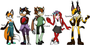 Sonic OC Redesigns by CheshireCatGrin