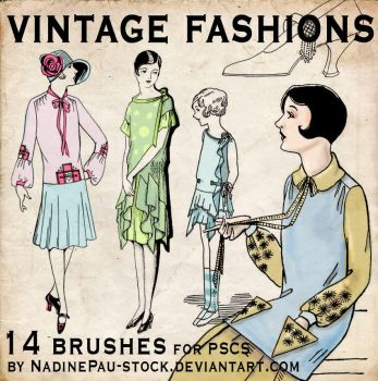 vintage fashions - 14 bruses by NadinePau-stock