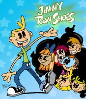 COLORIZED-Jimmy Toon-Shoes poster by spongefox