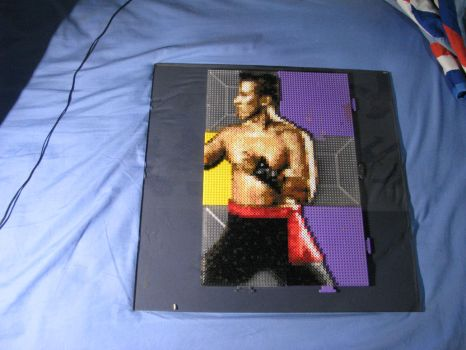 Johnny Cage MK Arcade Beads WIP by Buck-Chow-Simmons