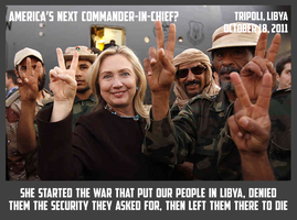Hillary Clinton Celebrating With Libyan 'Rebels' by CaciqueCaribe