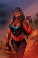Red She-Hulk colored by gregscottbailey