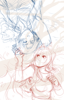 Spice and Wolf- sketch by RenonVesir