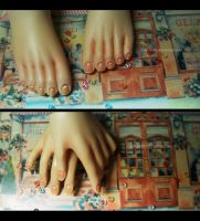 Acchan's manicure and pedicure by mio-mio