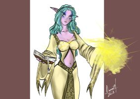 Colored night elf priestess by DanaisH