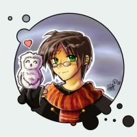 Harry and Hedwig by Rovenka