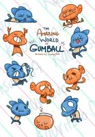 Gumball stickers by Kauritsuo