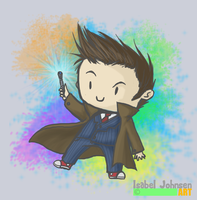 The 10th Doctor - Sonic Rainbow by issabissabel