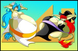 Jin and Din vore by Animewave-Neo