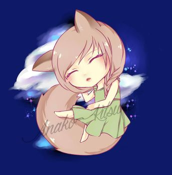 Sleepy fox (Lines free to color - link in descrip) by Anako-Kitsune