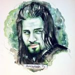 Watercolor - Roman Reigns. by Artbynash